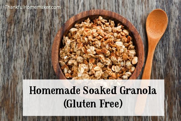 Homemade Soaked Granola - Gluten Free