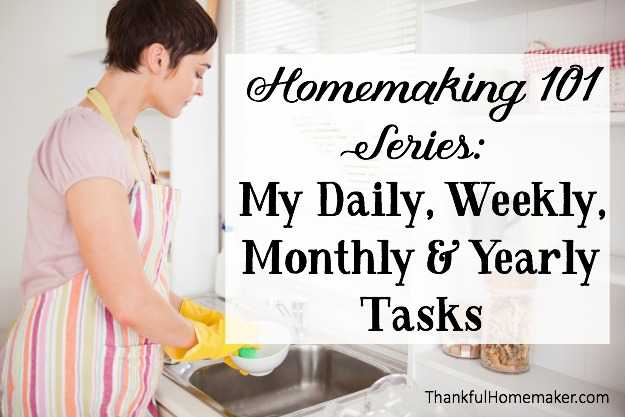 My Daily, Weekly, Monthly & Yearly Tasks