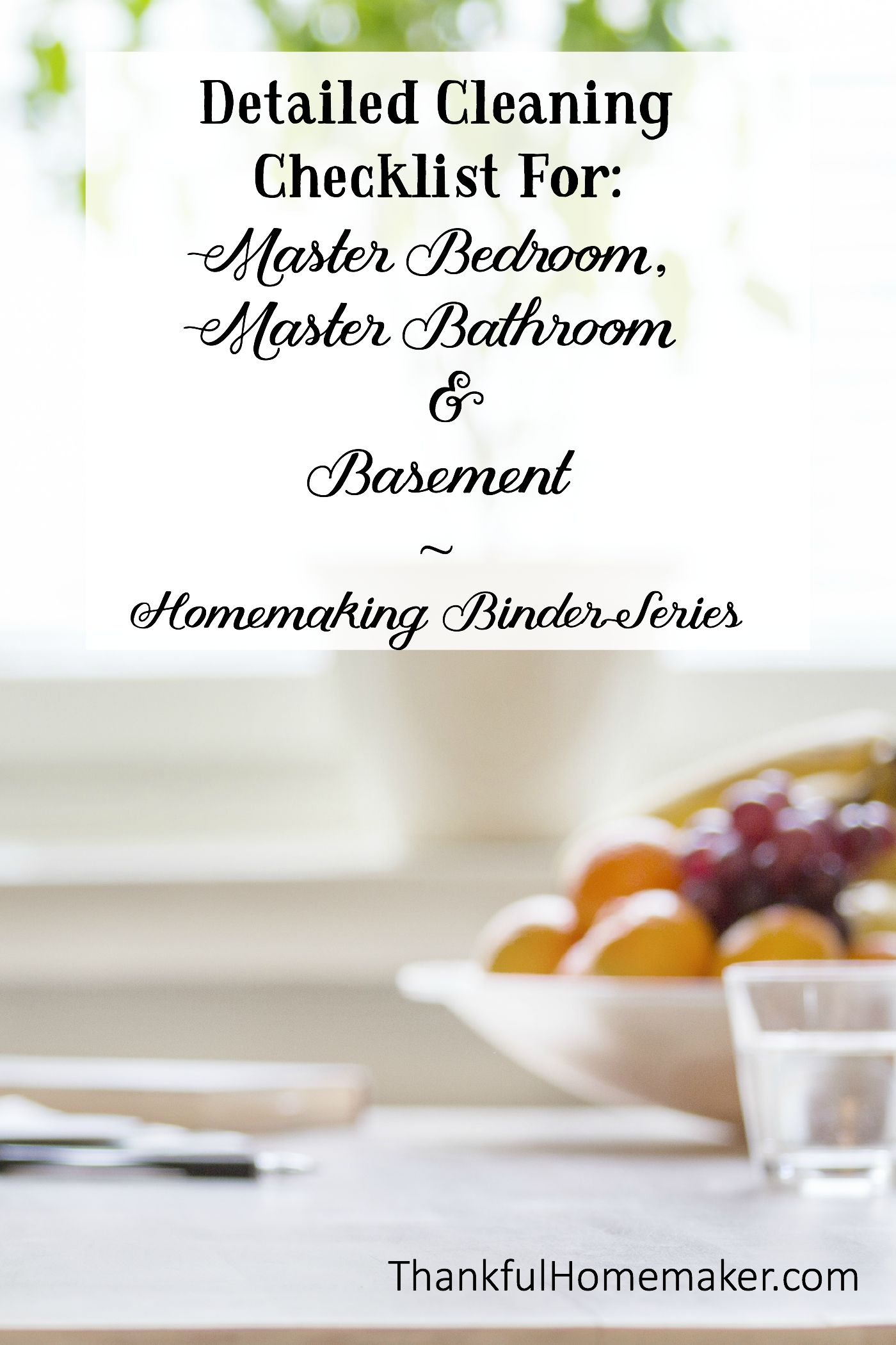 Homemaking Binder Series Detailed Cleaning Checklists For