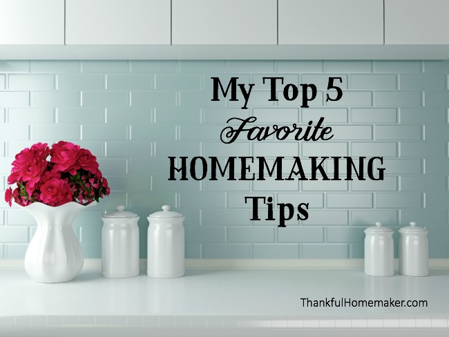 There is much to running home and caring for a family and I want to address today my top five pieces of advice in caring for your home. - mferrell